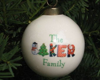 Personalized Holiday Ornamentsw