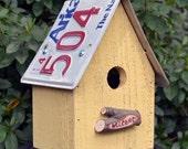 Rustic Birdhouse - Sunflower Birdhouse - Hanging Birdhouse - License Plate Birdhouse