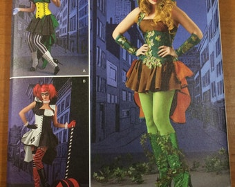 Harley Quinn Poison Ivy Sewing Pattern Simplicity 1091 Sizes 6-8-10-12-14 Costume