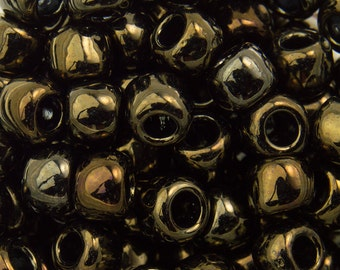 """Metallic Iris Brown Toho Seed Bead 6/0 2.5"""" Tube TR-06-83/C"""