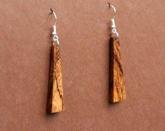 Spalted Oak Wood Earrings  J150710
