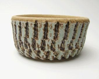 Contemporary Succulent planter Ceramic pottery planter Cactus planter Turquoise Blue Bonsai planter Herb pot 5 3/4 x 2 3/4  u1