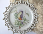 Vintage Bird Plate Lefton China Handpainted Decorative Plate/Wall Hanging