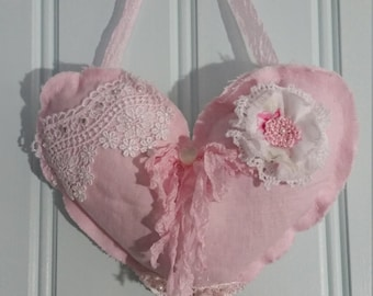 Lavender Filled Pink Heart Sachet