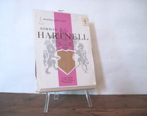 vintage pair of nylon stockings NORMAN HARTNELL, color: TOAST - size 10 5'7 to 5'9 - deadstock, new in packaging, hosiery