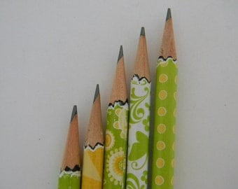 Summer Bright Hand wrapped pencils