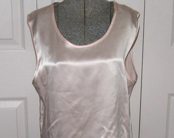 Pink Silk Top by April Cornell / Pink Silk Satin Tank
