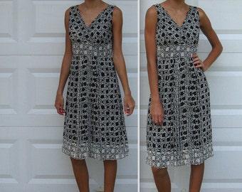 Black and White Graphic Dress . graphic print dress