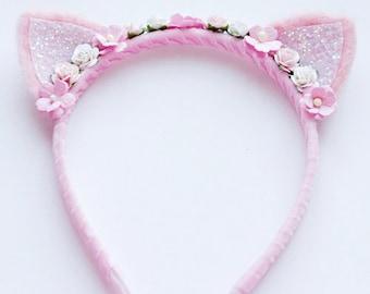 Floral Kitten Headband