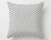 Chevron Pillow Cover Gray Pillow Decorative Pillow 16x16 18x18 24x24 Cushion Cover