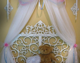 CUSTOM Boutique Bed Canopy Disney PRINCESS Pink and Lavender Fairy Tinkerbell Girls Bedding SALE