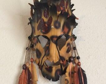 Shamanistic Cheetah Leather Mask