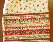 Fabric Destash – Christmas Mix I – 2 Pieces, Over 1 3/4 Yards, 100% Cotton, Gingerbread & Bows