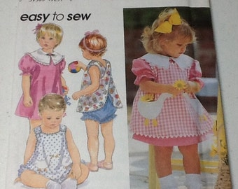 Simplicity 4948  Girls dress and panties  pattern, cut, size  1/2 to 4