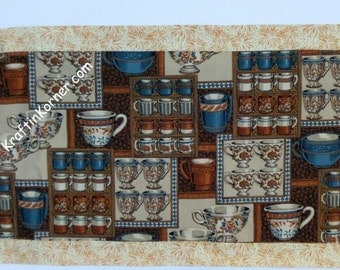 Coffee Table Runner Java Cafe Reversible