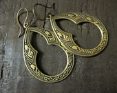 Hoop Earrings, Gypsy Hoops, Moroccan Earrings, Boho Earrings, Bohemian, Bold Earrings, Brass Hoops, Statement Earrings, Dangle, Celtic Hoops