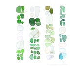 Barcelona Beachcombing series No.3 (8x10 photograph) sea glass, seaglass, Spain, beach art, coastal decor, green, blue