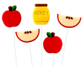 Apples & Honey Rosh Hashanah Marzipan Lollipops!  Delicious Holiday Gift and Treat!
