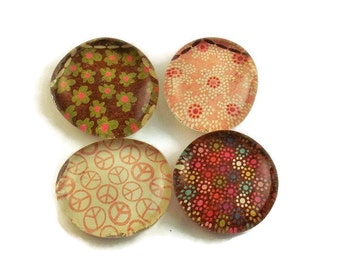 Glass Marble Magnets Funky  Refrigerator Magnets  in Dixie Diva (M108)