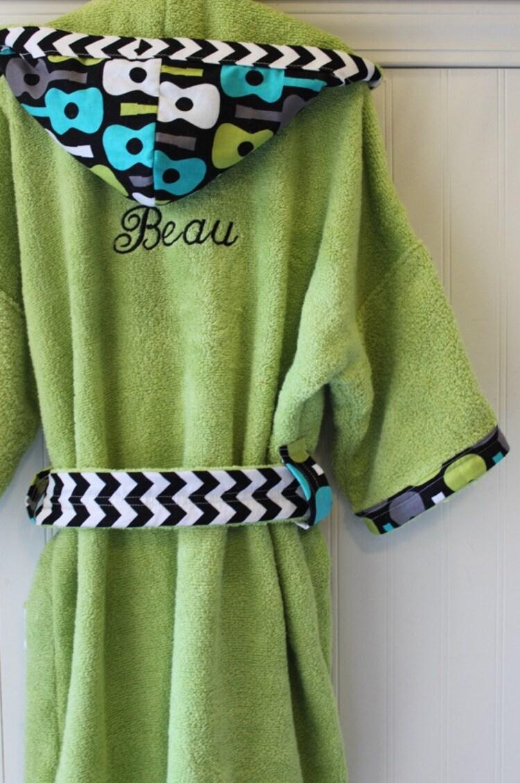 Personalized Kids Robes Children Boys Boy Bath Robe