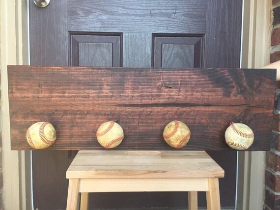 Baseball Dugout Bedroom Designs: Baseball Hat Hanger Dugout Sign Rustic Baseball Sign