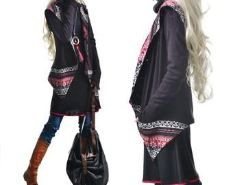 Original Dream - Hoodie Cardigan and Tunic dress set (Q3131)
