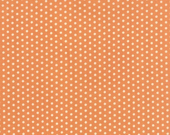 SALE!!  Farmhouse (20257 12) Dot Polka Dotties Pumpkin by Fig Tree & Co. - cut options available