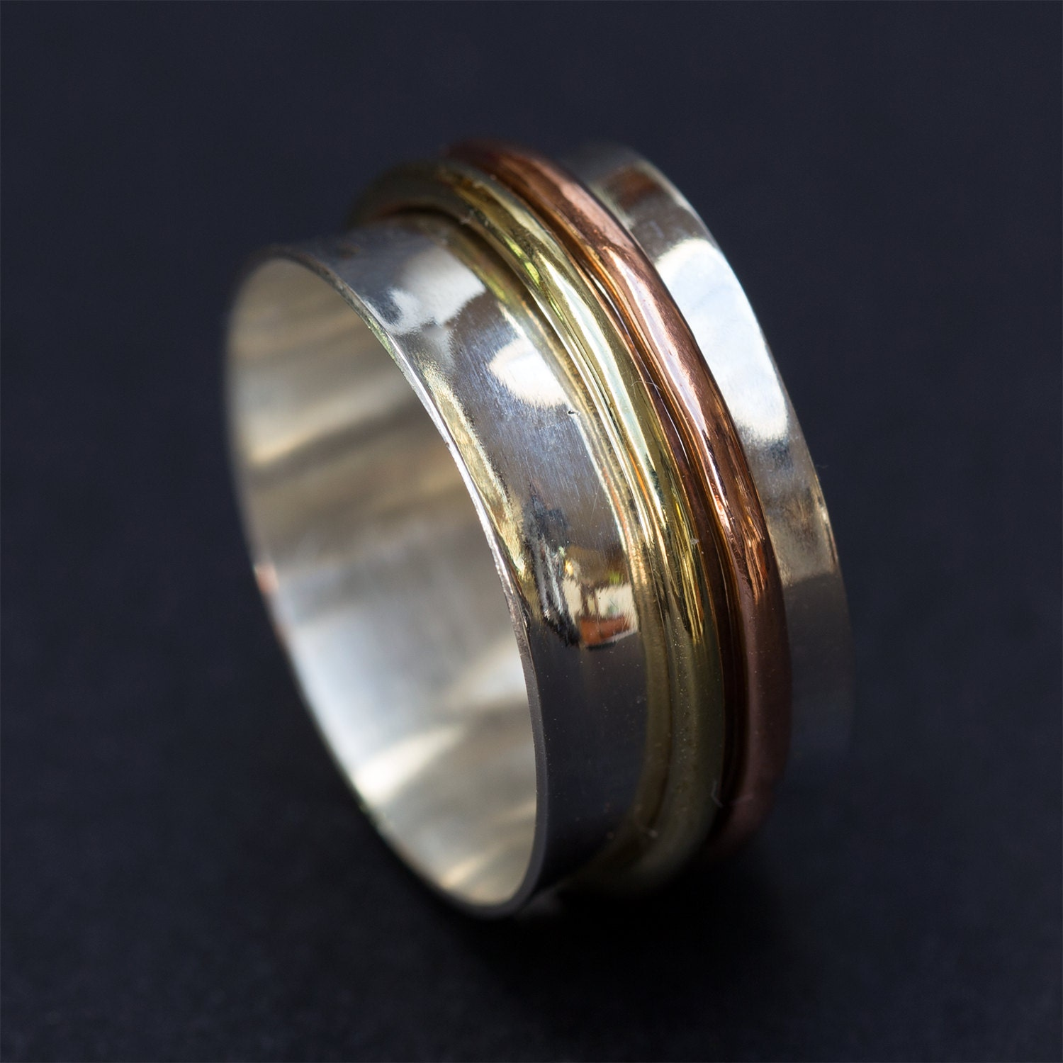 sterling silver ring spinner ring spinning by