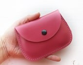 Handmade leather coin, cards, small purse, MINNIE Purse by Fairysteps. Lipstick 2900
