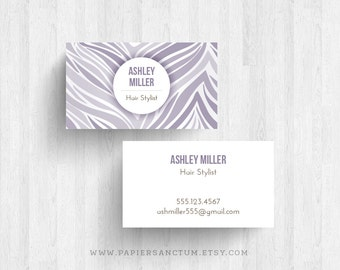 250 or 500 Custom Soft Zebra Print Business Cards Calling Cards