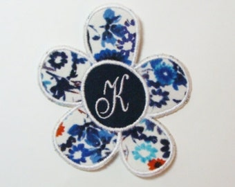 Monogram Flower Embroidered Applique DIY Patch -100243