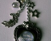 Love you to the Moon and Back Bag Charm; Key Ring; Bag Dangly; Charity Listing