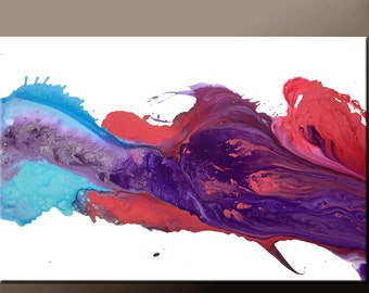 Abstract Art Painting 36x24 Canvas Original Contemporary Paintings by Destiny Womack - dWo - Sweet Dreams