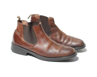 Size 9.5 Men's Brown Leather Chelsea Ankle Boots