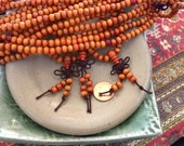 Mala Sandalwood Orange 108 Beads