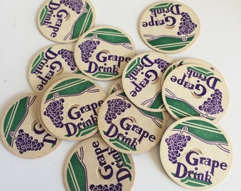 Lot of 15 vintage Grape Drink milk caps