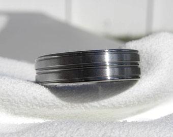 Titanium Ring or Wedding Band Unique Style