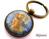 Cocker spaniel dog keychain - Dog pet keychain - Animal dog pet keychain - Pet dog keychain  k111