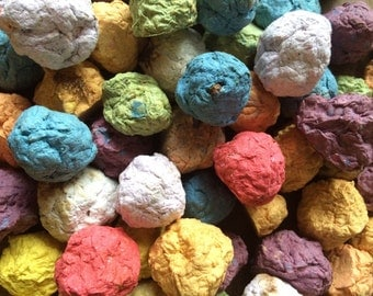 Wholesale 100 Dragon Drops, plantable seed balls, plantable handmade paper, seeded paper, party favor, seed bomb, host gift, wedding favor
