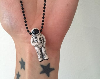 Ceramic Astronaut Necklace