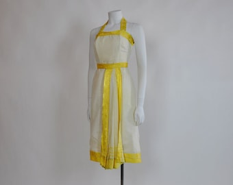 vintage 50s dress / Bollywood Darling Vintage 1950's Halter Dress