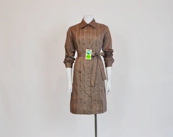 1960s dress / Vintage 60's Dress - A Formal Affair Tuxedo Shirt Dress