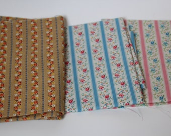 Set of THREE Vintage fabrics NEW