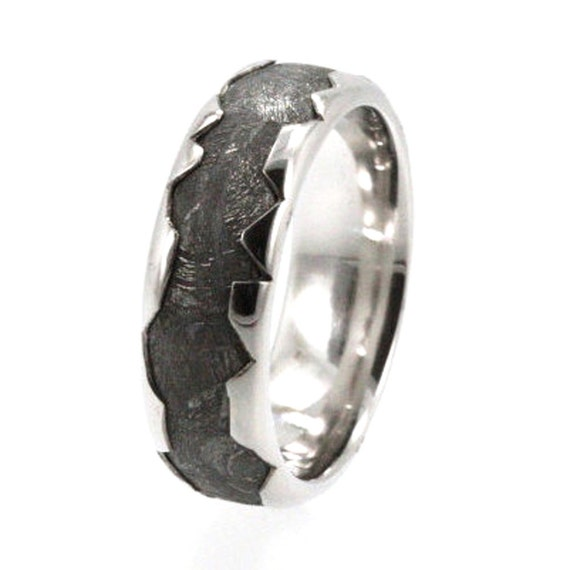 Cool Meteorite Platinum Ring Platinum Wedding By Jewelrybyjohan