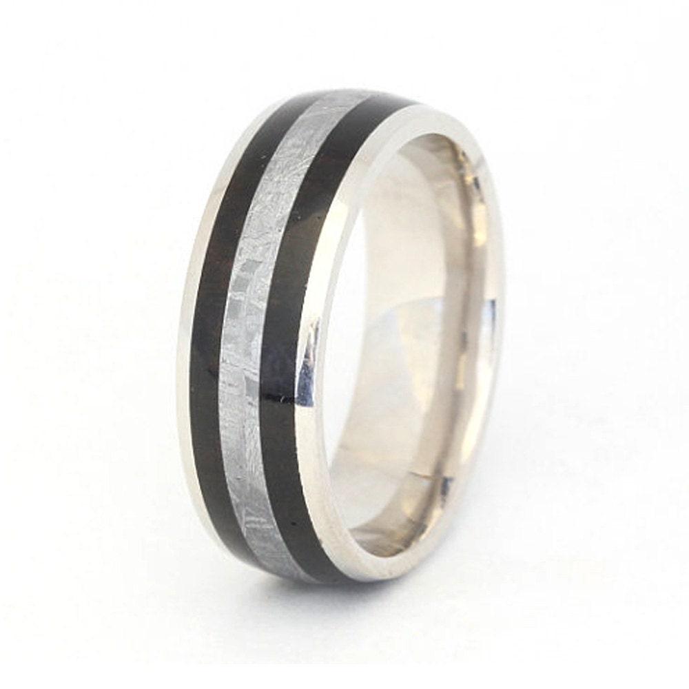 Men's Wedding Ring 10k White Gold Wedding Band By