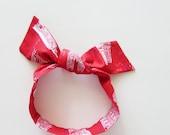 London Sights Head Scarf / Hair Accessory / Neck Scarf / Handbag Adornment / Rockabilly Scarf / Gift Under 15 / Red Blue White Scarf