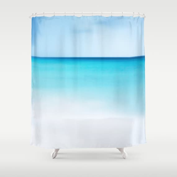 OCEAN Shower Curtain, Beach Shower Curtain, Bathroom, Aqua Blue Home Decor, Nautical Shower Curtain, Nature Shower Curtain, Surf, Tropical