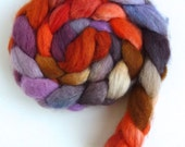 BFL Wool Roving - Hand Painted Spinning or Felting Fiber, October Dreams