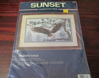 Counted Cross Stitch Kit Southwest Majestic Eagle Dimensions 13640 Counted Cross Stitch Kit Complete and Ready to Stitch