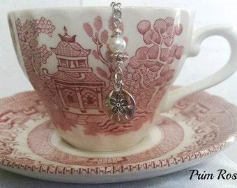 SAND DOLLAR Teaball Tea Infuser with Pearl